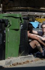 KELLY OSBOURNE and Erik Bragg Fix His Old Station Wagon in Los Angeles 04/11/2021