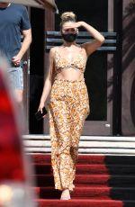 KELSEA BALLERINI Leaves Her Hotel in Miami 04/01/2021