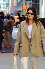KENDALL JENNER Leaves Four Seasons Hotel in New York 04/26/2021
