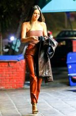 KENDALL JENNER Out for Dinner in Los Angeles 04/15/2021