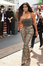 KIM KARDASHIAN Arrives at her SKIMS Pop-up Store at The Grove in Los Angeles 04/07/2021