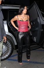 KIM KARDASHIAN Out for Dinner in Brentwood 04/17/2021