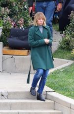 KRISTEN BELL on the Set of The Woman in the House in Los Angeles 04/13/2021