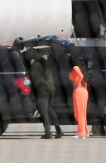 KYLIE JENNER Arrives in Palm Springs 04/01/2021