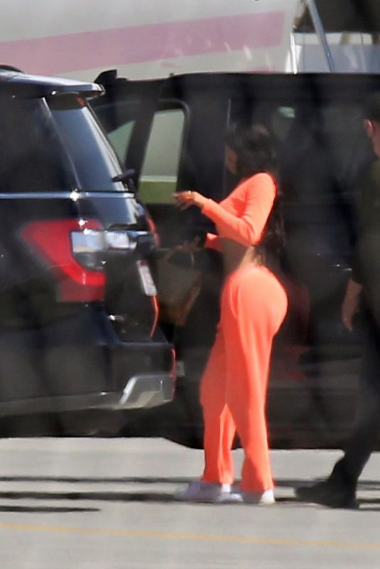 KYLIE JENNER Arrives in Palm Springs 04/01/2021