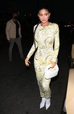 KYLIE JENNER Out for Dinner at Nobu in West Hollywood 04/22/2021
