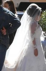 LADY GAGA in a Wedding Dress on the Set of House Of Gucci in Rome 04/08/2021