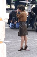 LADY GAGA on the Set of House Of Gucci in Rome 04/06/2021