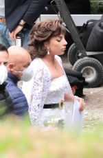 LADY GAGA on the Set of House Of Gucci in Rome 04/07/2021