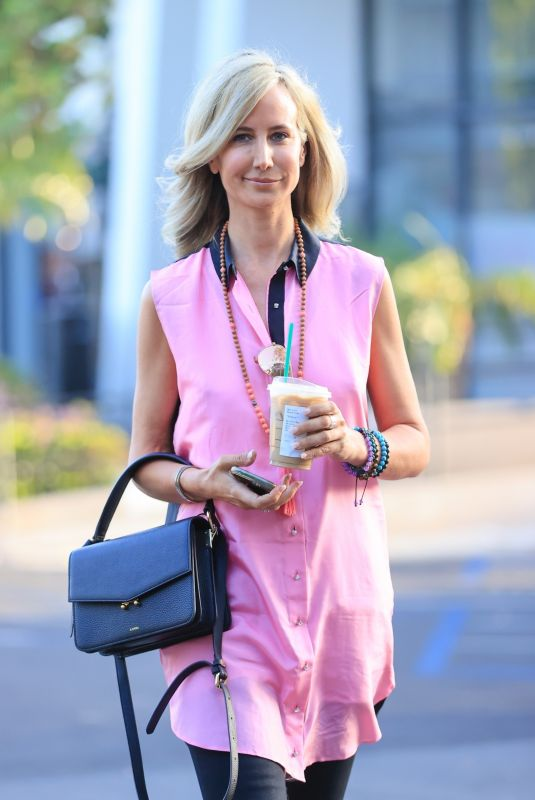 LADY VICTORIA HERVEY Out for Iced Coffee in West Hollywood 04/11/2021