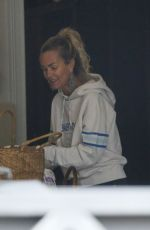 LAETICIA HALLYDAY Cleaning Out Her Garage in Brentwood 04/22/2021