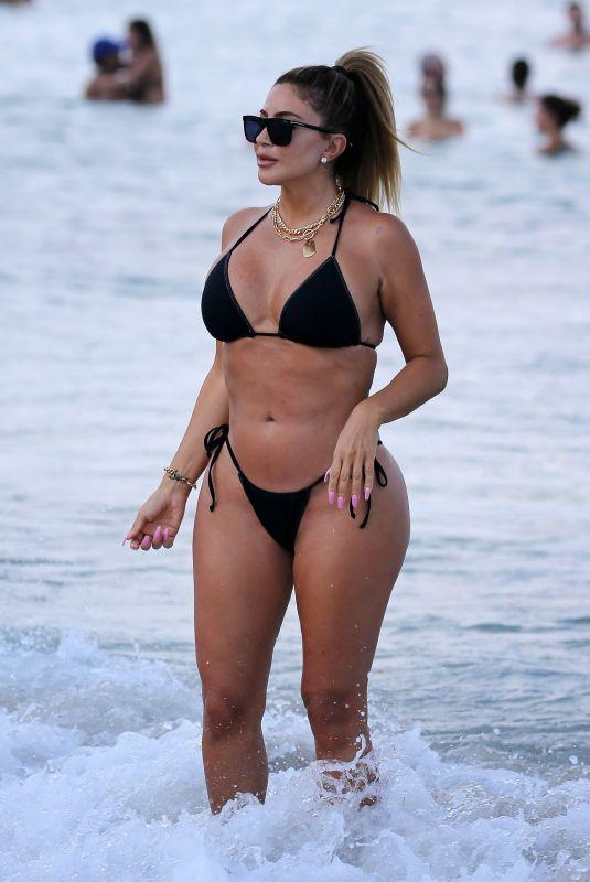 LARSA PIPPEN in Bikini at a Beach in Miami 04/25/2021