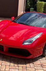 LARSA PIPPEN Out Driving Her New $320k Ferrari 04/02/2021
