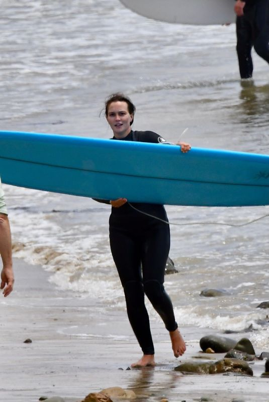LEIGHTON MEESTER in Wetsuit Surfing in Malibu 04/24/2021