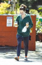 LENA HEADEY at Lauren Canyon Cafe in Los Angeles 04/06/2021
