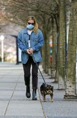 LILI REINHART Out with Her Dog in Vancouver 04/06/2021