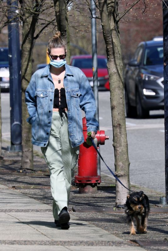 LILI REINHART Out with Her Dog in Vancouver 04/16/2021