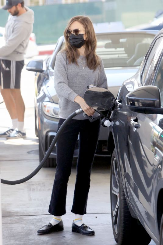 LILY COLLINS at a Gas Station in West Hollywood 04/05/2021