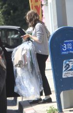 LILY COLLINS Leaves a Drycleaner in West Hollywood 03/31/2021