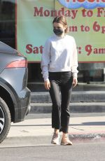 LILY COLLINS Out in Los Angeles 04/09/2021