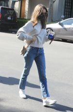 LILY COLLINS Out with Her Mom to Celebrate Her Birthday in West Hollywood 04/09/2021