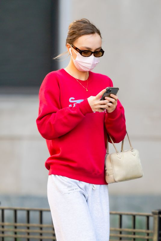 LILY-ROSE DEPP Out and About in New York 04/05/2021