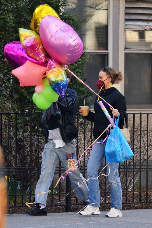 LILY-ROSE DEPP Out on Easter Morning in New York 04/04/2021