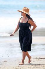 LINDSAY PRICE Out at a Beach in Santa Barbara 04/11/2021