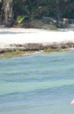 LINDSEY VONN in Bikini Paddle Boarding in Tulum 04/20/2021