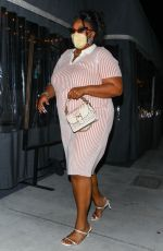 LIZZO Leaves Crossroads Kitchen in Los Angeles 04/13/2021