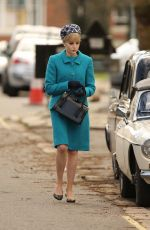 LUCY BOYNTON on the Set of The Ipcress File in Liverpool 03/30/2021