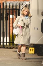 LUCY BOYNTON on the Set of The Ipcress File in Liverpool 04/06/2021