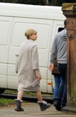 LUCY BOYNTON on the Set of The Ipcress File in Liverpool 04/08/2021