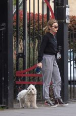 LUCY HALE Out with Her Dog in London 04/28/2021