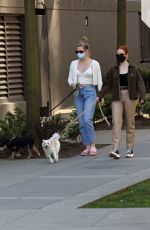 MADELAINE PETSCH and LILI REINHART Out with Their Dogs in Vancouver 04/21/2021