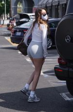 MADISON BEER in Tights Out in West Hollywood 04/14/2021