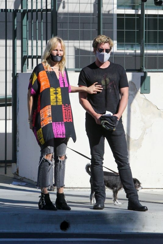 MALIN AKERMAN and Jack Donnelly Out with Their Dog in Los Feliz 04/02/2021
