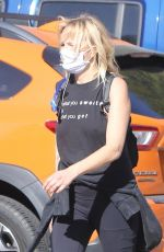 MALIN AKERMAN Out with Her Dog in Los Feliz 04/05/2021