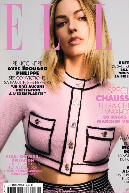 MARGOT ROBBIE on the Cover of Elle Magazine, France April 2021
