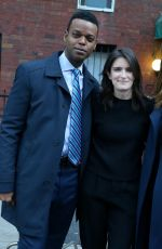 MARISKA HARGITAY, ANNA WOOD and Demore Barnes on the Set of Law and Order: Special Victims Unit in Brooklyn 04/06/2021