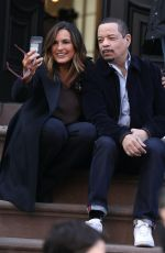 MARISKA HARGITAY on the Set of Law & Order: Special Victims Unit in New York 04/12/2021