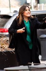 MARISKA HARGITAY on the Set of Law & Order: Special Victims Unit in New York 04/16/2021