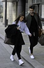 MAURA HIGGINS Leaves a Filming Studios in Manchester 04/12/2021