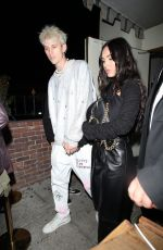 MEGAN FOX and Machine Gun Kelly Out for Dinner in Los Angeles 04/20/2021