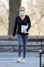 MEGYN KELLY SStudies a Script on a Park Bench in New York 04/14/2021