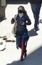 MELISSA BENOIST on the Set of Supergirl in Vancouver 04/14/2021