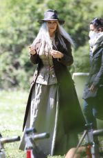 MONICA BELLUCCI on the Set of La Befana Comes at Aight Out in Rome 04/10/2021