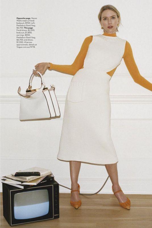 NAOMI WATTS in Vogue Magazine, Australia April 2021