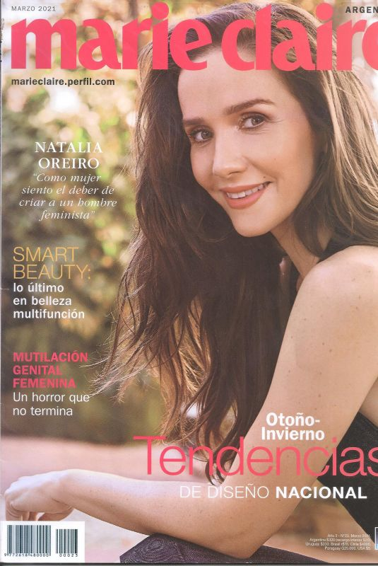 NATALIA OREIRO in Marie Claire Magazine, Argentina March 2021