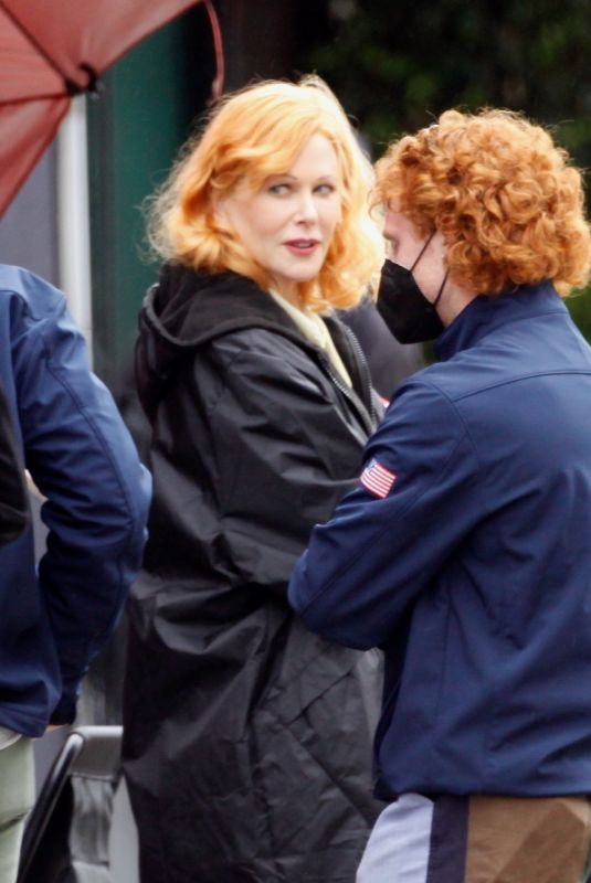 NICOLE KIDMAN on the Set of Being the Ricardos in Hollywood 04/14/2021